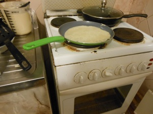 I never knew making blini (crepes) could be so easy!